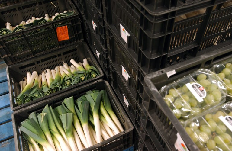 CC Freshboxes loaded with leeks