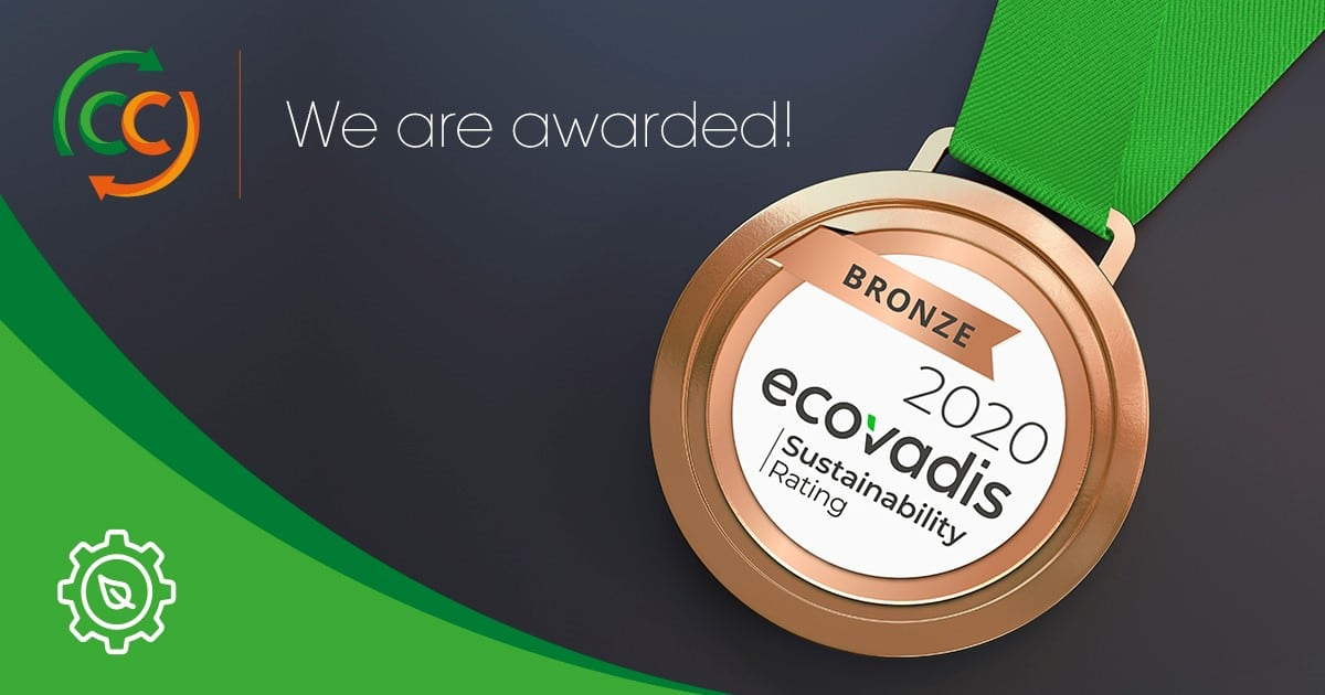 Medal bronze sustainability company rate green horticultural