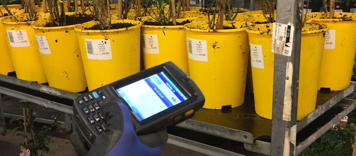 Picture of a scanner and plants